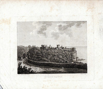 Rare Antique Irish  Print -  Colaine Castle, Londonderry  - Copperplate (1791)