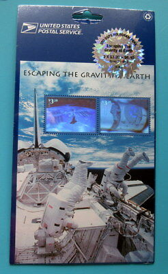 2000 Scott #3411 Escaping the Gravity of Earth Full Pane $3.20 Stamps Sealed MNH