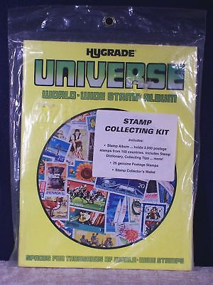 New Hygrade Universe World-Wide Stamp Album Collecting Kit - Packet & Wallet
