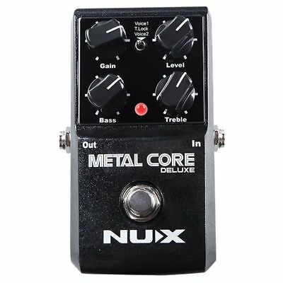 NUX Upgraded Metal Core Deluxe Distortion Guitar effects Pedal classic met E4P9)
