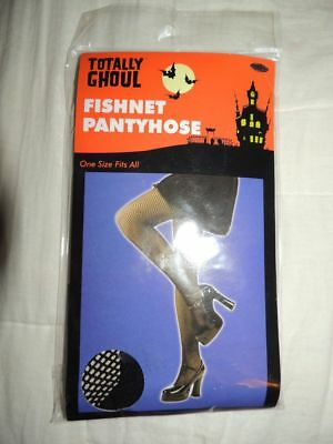 Nwt~Totally Ghoul~Fishnet Pantyhose~Stockings~Panty Hose~Os~One Size Fits All