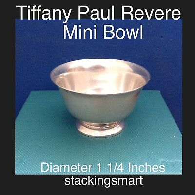Tiffany 925 Sterling Silver Paul Revere Style Vintage Bowl 1 1/4 Inch Diameter