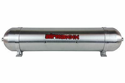"33"" Seamless Aluminum Air Tank Raw 5 Gallon 7 Port Air Ride Suspension System"