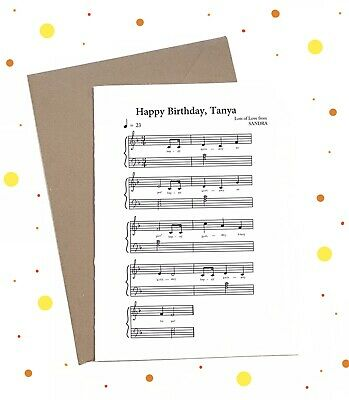 Personalised Musical Birthday Card Happy Custom Music Gift Recycled Fun