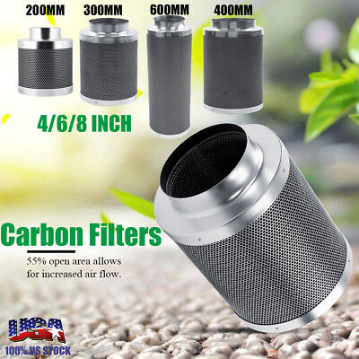 4/6/8'' Stainless steel Air Carbon Charcoal Filter for Odor Control Inline Fan