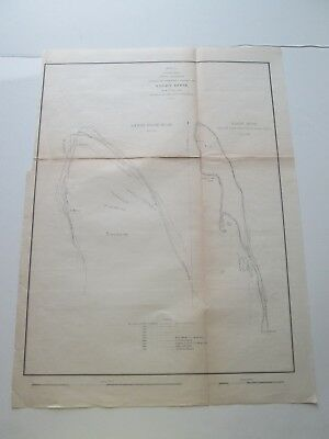 "3Rd 1855 U S Coast Survey Nautical Chart ""Progressive Changes, Sandy Hook N. J."""