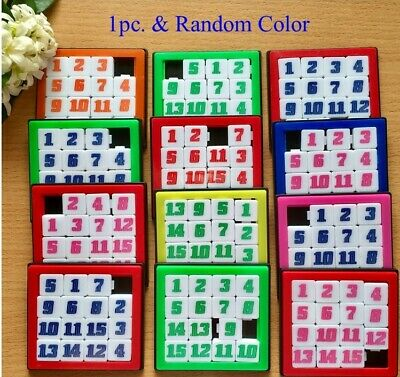15 FIFTEEN NUMBER Sliding Puzzle Classic Iq Brain Teaser Puzzle Game Toy  Plastic