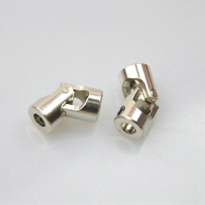 2pcs 4x3mm Diameter Stainless Steering Universal Joint Shaft Motor Coupling