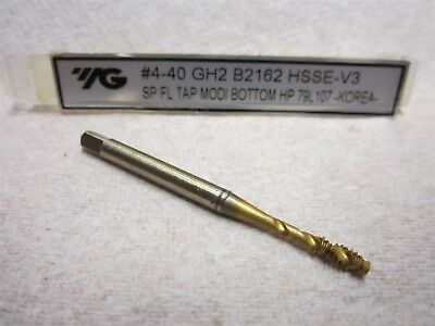 YG B2162 Fast Spiral Flute Tap #4-40 UNC H2 Modified Bottoming Chamfer TiN Coat