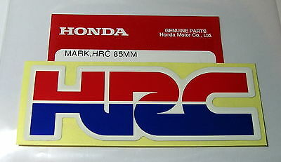 ORIGINAL Honda HRC Aufkleber-Sticker-8,5cm x  3cm-Logo-Emblema-Decal-85mm x 30mm