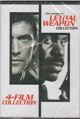 4 Film Lethal Weapon Collection (Dvd, 2017) New