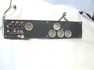 Nascar Aluminum Dash Front Face With Full Toggels 5 Gauges Some Wire Harness
