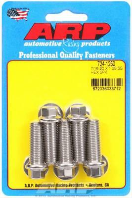 "ARP 724-1250 Stainless Steel Bolts Hex Head 7/16""-20 RH Thread 1.250"" Long 5 Pk"