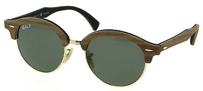beaba05a1f Ray Ban Clubround Wood Special Edition Sunglasses Polarized Green 4246M  118158