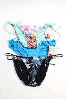 a26382ac20 French Connection Hobie Lot 3 Blue Pink Bikini Bottoms Sizes S New JGSW