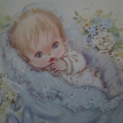 10 x Yellow boy Baby Christening Cards Notes Murfett 1970s Vintage New In Pack