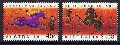 2002 Christmas Island - Year of the Horse (2) MUH