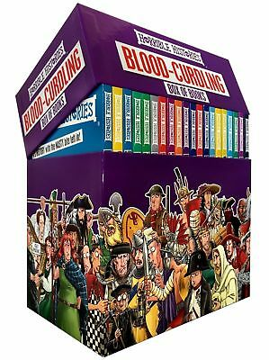 Horrible Histories Blood Curdling Collection 20 Books Box Gift Set Brand New