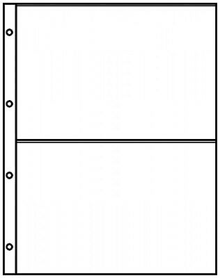 Lindner 8812 Pocket A4 pages crystal clear with 2 pockets (220 x 150 mm)