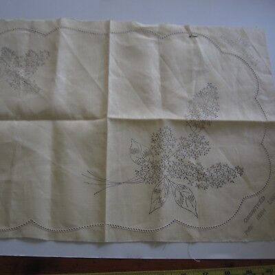 "1 x 14""x20"" #7042 Para Vintage Irish Linen Doily Stamped Embroidery Project New"