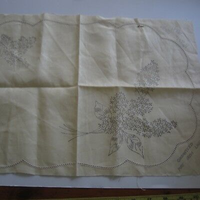 "1 x 12""x18"" #7042 Para Vintage Irish Linen Doily Stamped Embroidery Project New"