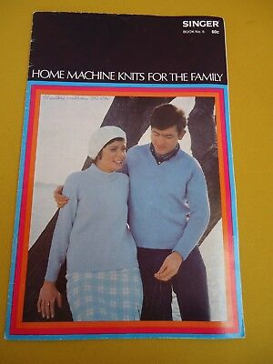 SINGER Book No 6 HOME MACHINE KNITS FOR THE FAMILY Cardigan Dress Jumper ++ 5938