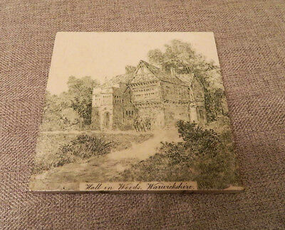 """Antique English Minton Tile Works """"Hall in Woods"""" Warwickshire Stoke on Trent"""