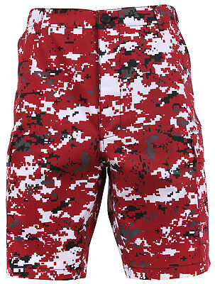 Camouflage Hommes Rouge Short Style Militaire Cargo Bdu 8XOP0nwk