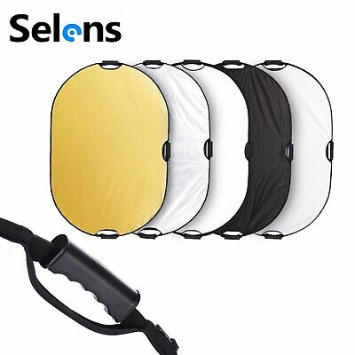 Photography 5 in1 Light Collapsible Portable Photo Reflector Diffuser 80x120cm
