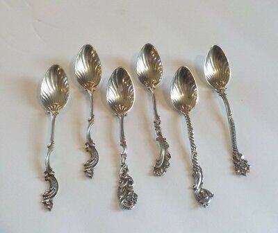 Set/6 Gorham Sterling Silver Coffee Demitasse Spoons, Pattern #18