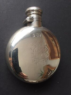 19th Century Victorian  Silver Flask -1874. William Summers London