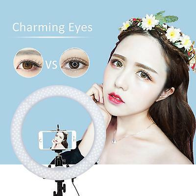 """Dimmable LED Ring Light 18"""" 5500K Photogy Continuous Lighting &Light Stand Kit"""