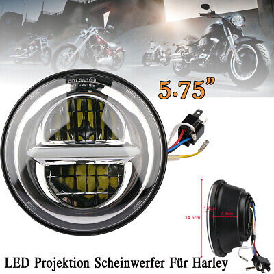 "5.75"" 50WCREE LED Projektion Scheinwerfer Hi/Low Beam für Harley"