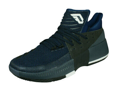 sale retailer 4224a f8a79 adidas D Lillard 3 Mens Basketball Sneakers Court Low-Top Shoes Trainers  Blue