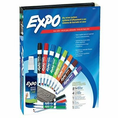 Dymo Expo Low-Odor Dry Erase Markers Chisel Tip Assorted Colors 15-Piece Set