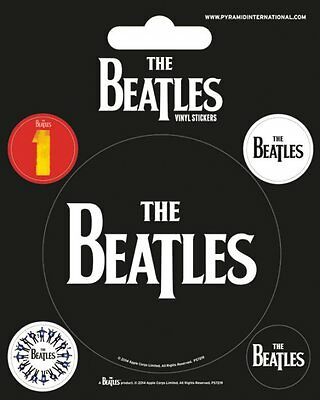 Vinyl Sticker / Aufkleber-Set The BEATLES - Black 1x 7,5cm 4x 2cm   NEU  PS7219