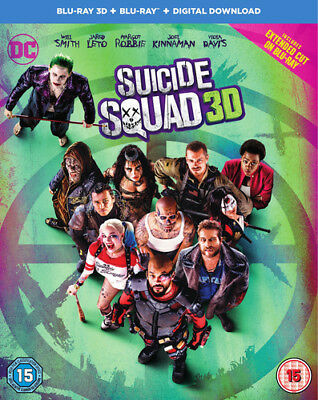 Suicide Squad DVD (2016) Will Smith, Ayer (DIR) cert 15 3 discs ***NEW***