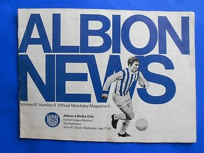 WEST BROMWICH ALBION v STOKE CITY  1969/70 Football League Division One