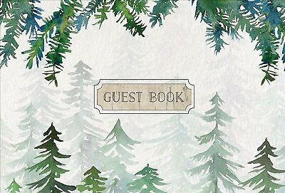Guest Book Cabin Edition, Hardcover by Rock Point (COR), Brand New, Free ship...
