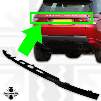 Tailgate boot trim strip in Black for Sport L494 SVR trunk stealth pack