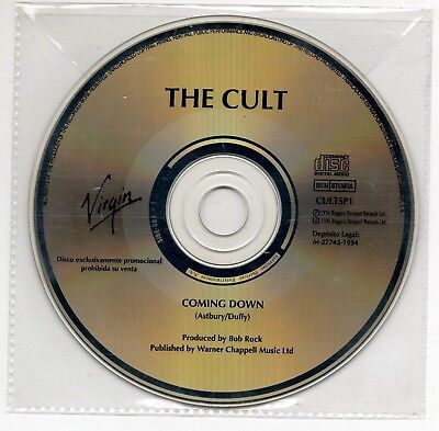 THE CULT Coming down ULTRA RARE SPANISH PROMO CD SINGLE 1994 COLLECTORS CULTSP1