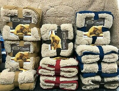 Scruffs Pet Snuggle Comfort Blanket Dog Cat Duvet Reversable Red/Brown/Blue
