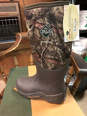 aac5c8f1c26 MUCK BOOT WOODY Max Mens 11 womens 12 mossy Oak Break Up Water Proof Hunting