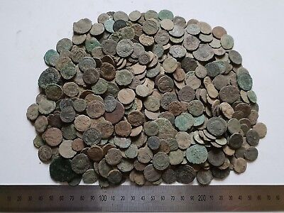 60 Authentic Uncleaned Roman Coins, Mid to Low Quality