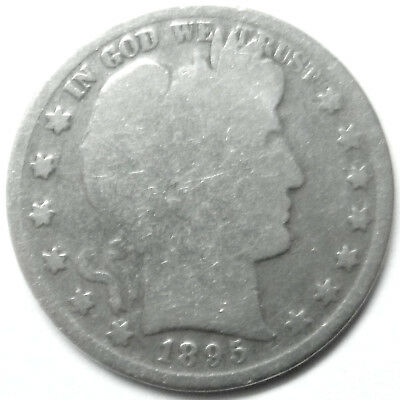 1895 BARBER HALF DOLLAR good from old collection noscamzone1 !!!!!!!!!!!!!!!!!!!
