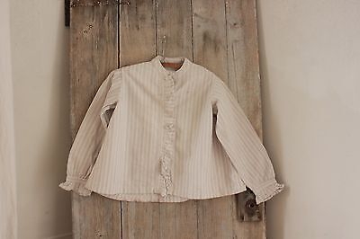 Blouse vintage Workwear  Antique French shirt peasant  work shirt work wear ~