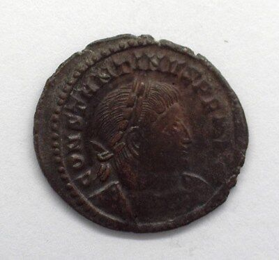 Constantine I The Great 307-337 Ad. Ae Follis -Rev. Sol Standing- Uncirculated