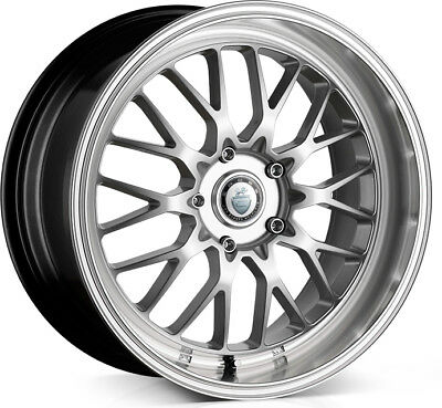 Alloy Wheels 18 Cades Tyrus Silver Polished Lip For Audi A4 B5 94