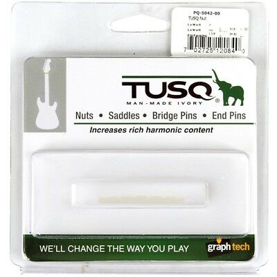 Graph Tech Tusq Flat Bottom Nut For Fender Strat & Tele Guitars *new* 42Mm