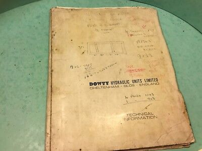 Hydraulic units catalogue printed 1966 Dowty units Limited.